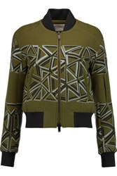 Peter Pilotto Wool Blend Bomber Jacket Army Green