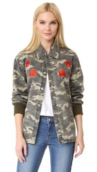 Opening Ceremony Tigers Coach Jacket Army Green Multi
