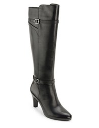 Lauren Ralph Lauren Sabeen Leather Dress Boots Black
