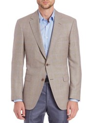 Saks Fifth Avenue Houndstooth Check Wool And Silk Sportcoat