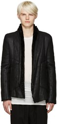 Julius Black Shearling Jacket