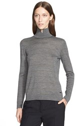 Women's Akris Notch Neck Cashmere Blend Sweater