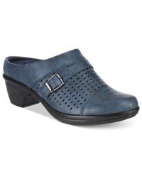 Easy Street Shoes Cleveland Mules Women's Denim