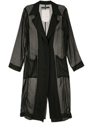 Song For The Mute Sheer Long Blazer Black