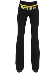 Moschino Chain Belt Printed Flared Crepe Pants