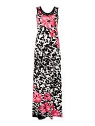 Simon Jeffrey Printed Maxi Dress Black