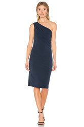 Velvet By Graham And Spencer Elly One Shoulder Dress Navy