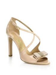 Salvatore Ferragamo Gabrielle Patent Leather Criss Cross Sandals