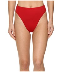 Norma Kamali Corset Bottom Red Women's Swimwear