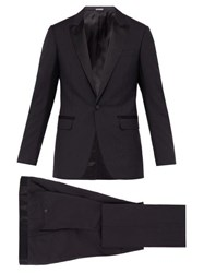Lanvin Peak Lapel Wool Blend Tuxedo Navy