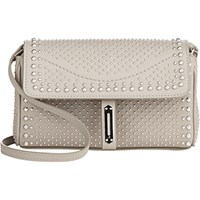 Fontana Milano 1915 Women's Studded Pochette Clutch Light Grey