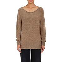 The Elder Statesman Women's Bateau Neck Sweater Tan