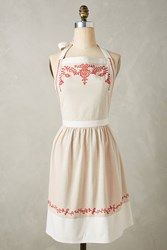 Anthropologie Eloise Apron Red Motif