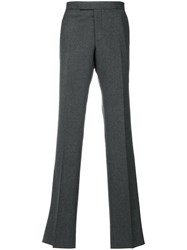 Thom Browne Classic Tailored Trousers Cupro Wool Grey