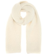 Acne Studios Hana Wool And Mohair Blend Scarf Beige