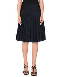 Hache Skirts Knee Length Skirts Women Dark Blue
