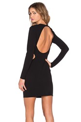 Twin Sister Cut Out Long Sleeve Dress Black