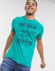 Tom Tailor Vintage T Shirt Green