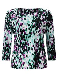 Eastex Brush Stroke Print Top Multi Coloured Multi Coloured