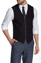 John Varvatos Double Zip Front Vest Black