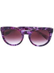 Dolce And Gabbana Round Frame Sunglasses Pink And Purple