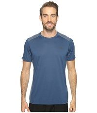 The North Face Versitas Short Sleeve Crew Shady Blue Men's Clothing