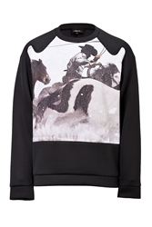 3.1 Phillip Lim Long Sleeve Pullover With Graphic