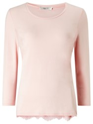 Precis Petite Molly Lace Trim Jersey Top Light Pink