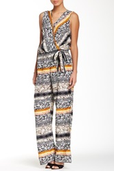 Romeo And Juliet Couture Wide Leg Print Jumpsuit Multi