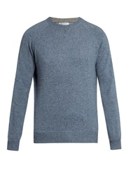 Brunello Cucinelli Wool Cashmere And Silk Blend Sweater Light Blue