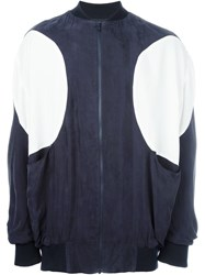 Henrik Vibskov 'Circle' Bomber Jacket Blue