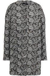 Giambattista Valli Woman Metallic Embroidered Tweed Coat Black