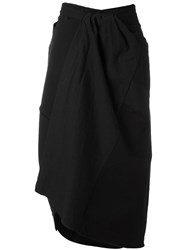 Atelier Suppan Ruched Detail Wrap Skirt Black