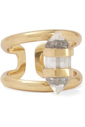 Cornelia Webb Charmed Gold Plated Quartz Ring