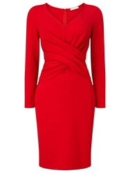 Jacques Vert Petite Ponte Dress Bright Red