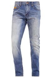 Superdry Corporal Straight Leg Jeans Dusted Blue Dark Blue Denim