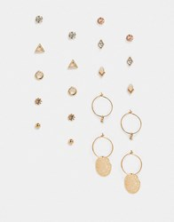 Accessorize Stud And Hoop Multipack In Gold
