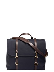 Mismo M S Satchel Navy Dark Brown Blue