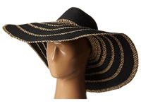 Bcbgmaxazria Tribal Stripe Floppy Hat Black Traditional Hats