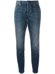 Burberry Relaxed Fit Mid Indigo Jeans Blue