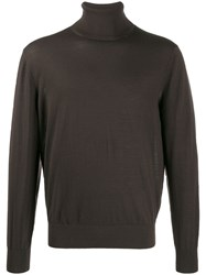 Z Zegna Relaxed Fit Jumper Brown