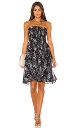Elliatt Chance Dress In Navy. Navy Multi