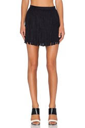 Bb Dakota Narelle Fringe Skirt Black