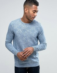 Pull And Bear Pullandbear Knitted Sweatshirt In Blue Blue