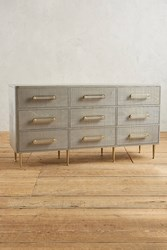 Anthropologie Odetta Nine Drawer Dresser Light Grey