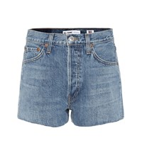Re Done Denim Shorts Blue