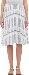 Barneys New York Mixed Stripe Skirt White Size 0 Us