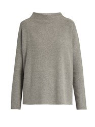 Vince Cashmere Boat Neck Sweater Light Grey