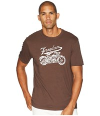 Life Is Good Freedom Machine Smooth T Shirt Rich Brown T Shirt