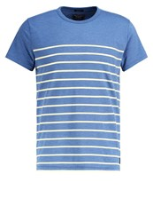 Abercrombie And Fitch Breton Muscle Fit Print Tshirt Blue White